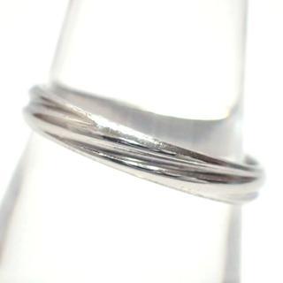 E112 中古 リング 指輪 アクセサリー pt1000 3.8g 15号(リング(指輪))