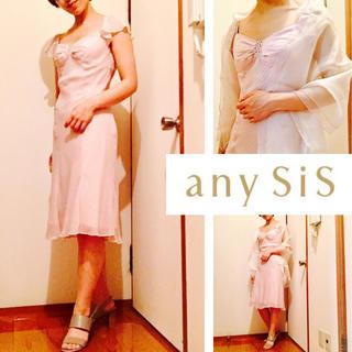 エニィスィス(anySiS)のエニシス anysis ドレス 結婚式 パーティ ワンピース(ミディアムドレス)