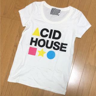 スライ(SLY)の夏物値下げ!!美品☆SLY☆カラフルロゴTシャツ☆ホワイト1(Tシャツ(半袖/袖なし))
