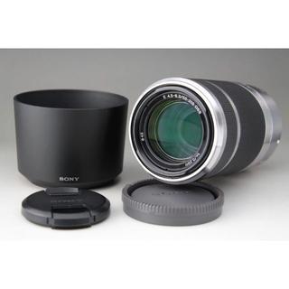 ソニー(SONY)のSONY E 55-210 F4.5-6.3 望遠ズームレンズ レンズフード付き(レンズ(ズーム))