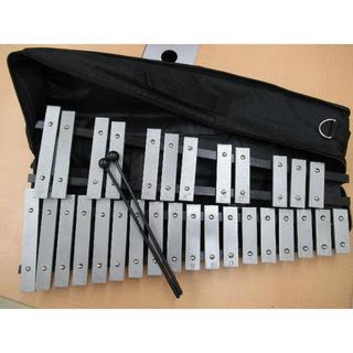 Enhong 折り畳み 卓上 鉄琴 30音 マレット2本 収納ケース付(鉄琴)