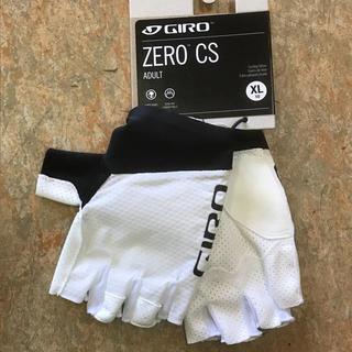 ジロ(GIRO)の高グリップ感 GIRO ZERO CS指切りグローブ  ホワイト  XLサイズ(ウエア)