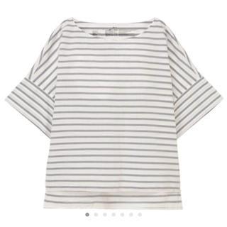 MUJI (無印良品) - ワイドボーダーTシャツ