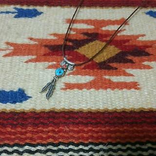インディアン(Indian)のインディアンジュエリー ナバホ族 sterling RB ターコイズネックレス(ネックレス)