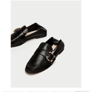 ザラ(ZARA)のZARA レザー ローファー(ローファー/革靴)