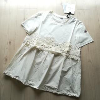 モンクレール(MONCLER)のサイズS 刺繍モチーフ切り替えTシャツ モンクレール(Tシャツ(半袖/袖なし))