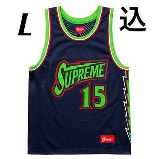 シュプリーム(Supreme)の【L】Supreme Bolt Basketball Jersey Navy(タンクトップ)