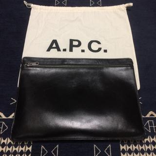 アーペーセー(A.P.C)のA.P.C レザークラッチバック(セカンドバッグ/クラッチバッグ)