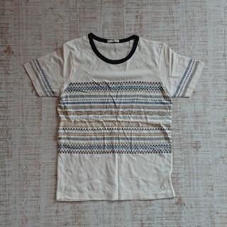 ジーユー(GU)のGU 刺繍柄Tシャツ ホワイト 150(Tシャツ/カットソー)