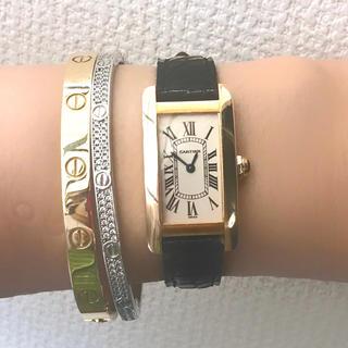 カルティエ(Cartier)の保証書有✨カルティエ Cartier k18yg タンクアメリカンSM 腕時計(腕時計)