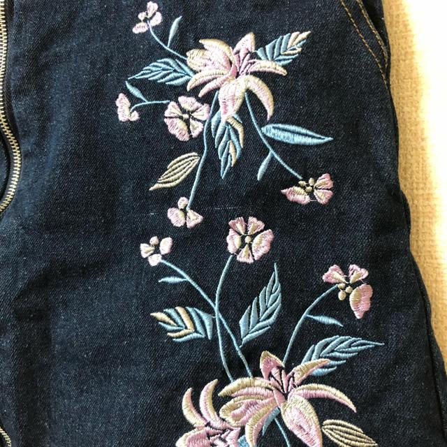 Avail(アベイル)の刺繍プリントデニムスカート レディースのスカート(ミニスカート)の商品写真