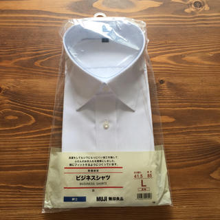 MUJI (無印良品) - 【新品未開封】MUJI/無印良品 紳士ビジネスシャツ/ワイシャツ 長袖 Lサイズ