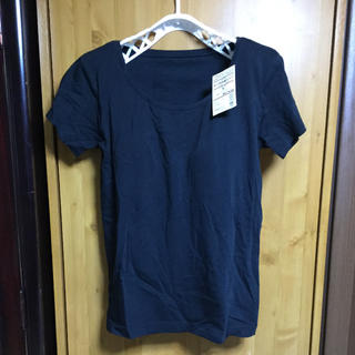 MUJI (無印良品) - 新品無印良品カップ付半袖Tシャツ シルク混M黒