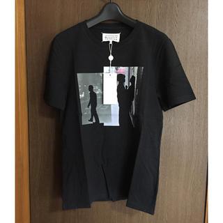 マルタンマルジェラ(Maison Martin Margiela)の値下17SS新品 マルジェラ プリント Tシャツ 46 ダークグレー(Tシャツ/カットソー(半袖/袖なし))