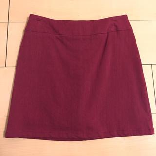 マーキュリーデュオ(MERCURYDUO)のマーキュリーデュオ  台形スカート ボルドー 美品(ミニスカート)