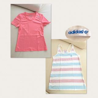 アディダス(adidas)のadidas&Reebok スポーツウェアセット 普段着にも♡(Tシャツ(半袖/袖なし))