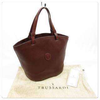 トラサルディ(Trussardi)の美品■ TRUSSARDI トラサルディ レザー ハンドバッグ(ハンドバッグ)