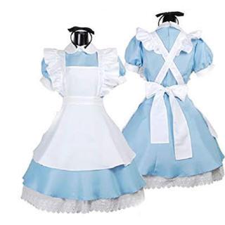 ディズニー(Disney)の3点セット♡ふしぎの国のアリス風ワンピースとエプロン カチューシャ(衣装一式)