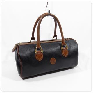 トラサルディ(Trussardi)の美品■トラサルディ ハンドバッグ ミニボストンバッグ PVC 黒 イタリア製(ハンドバッグ)