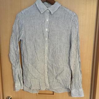 ムジルシリョウヒン(MUJI (無印良品))の無印良品 麻ストライプシャツ(シャツ/ブラウス(長袖/七分))