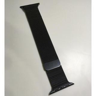 アップルウォッチ(Apple Watch)のApple純正 ブラックミラネーゼループ  Apple Watch 42mm用(金属ベルト)