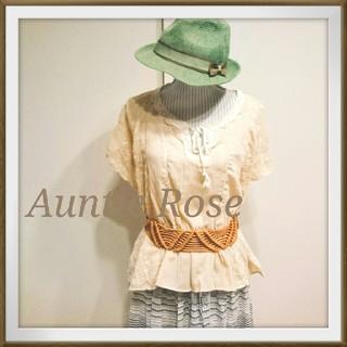 アンティローザ(Auntie Rosa)の最終値下げ❕ししゅう♥ブラウス(シャツ/ブラウス(半袖/袖なし))