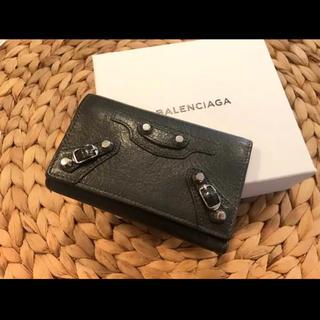 バレンシアガ(Balenciaga)の美品‼︎  バレンシアガ 6連 キーケース グレー(キーケース)
