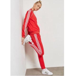 adidas - 希少 レッド❗️M♡adidas トラック パンツ レディース