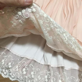 しまむら - 裾レース プリーツ シフォンスカート