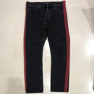バレンシアガ(Balenciaga)のBALENCIAGA Coated-Stripe Straight Jeans(デニム/ジーンズ)