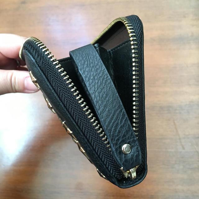 しまむら(シマムラ)のしまむら スタッズ ジミーチュウ風 長財布 ラウンドファスナー レディースのファッション小物(財布)の商品写真
