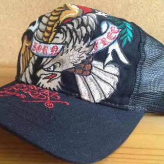 エドハーディー(Ed Hardy)のエドハーディー イーグル ブラック メッシュキャップ 帽子(キャップ)