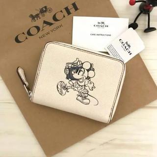 ディズニー(Disney)の限定品★Disney×COACH ミニー 折り財布 ホワイト(財布)