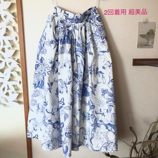 ザラ(ZARA)の2回着用 超美品 ZARA ザラ ロングスカート 花柄 XS(ロングスカート)