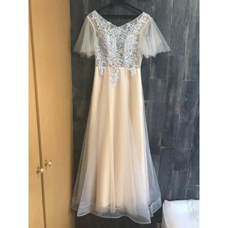ふんわりAラインロングドレス