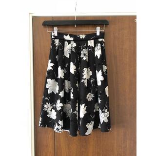 レッセパッセ(LAISSE PASSE)のLAISSE PASSE レッセパッセ 花柄 スカート(ひざ丈スカート)