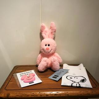 ピーナッツ(PEANUTS)の新品 スヌーピーミュージアム くたくたウサギ サガラ織りバッジ うさぎ(キャラクターグッズ)