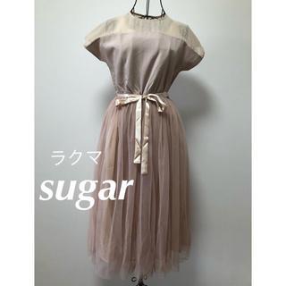 メルロー(merlot)のmerlot plus デコルテシースルー ワンピース フォーマル ドレス(ミディアムドレス)