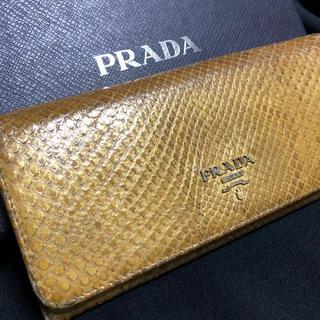 プラダ(PRADA)の良品‼️PRADA パイソン ウォレット‼️国内正規品‼️(財布)
