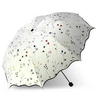 晴雨兼用 日傘 小花柄 デザイナーズ傘 大型96cm レディース傘(傘)