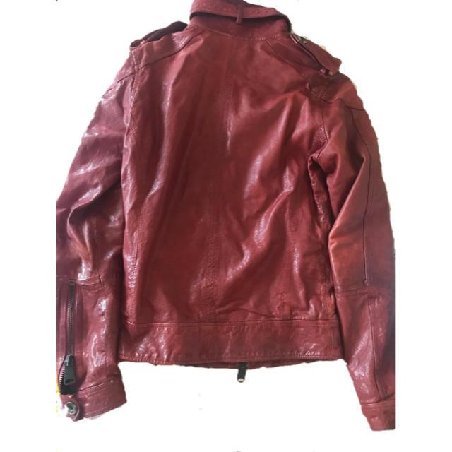 BUFFALO BOBS(バッファローボブス)のBUFFALO BOBS 革ジャン 赤 メンズのジャケット/アウター(レザージャケット)の商品写真