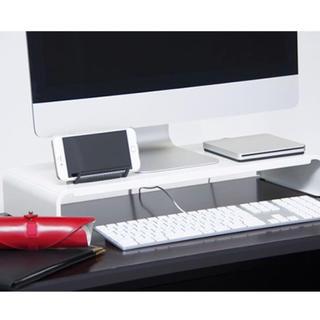 パソコンラック PCラック 54センチ ホワイト(オフィス/パソコンデスク)