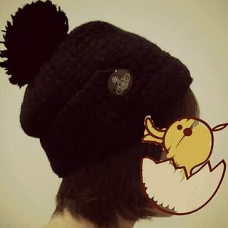 ヴィヴィアンウエストウッド(Vivienne Westwood)のヴィヴィアンニット帽ブラック★値下げ不可(ニット帽/ビーニー)