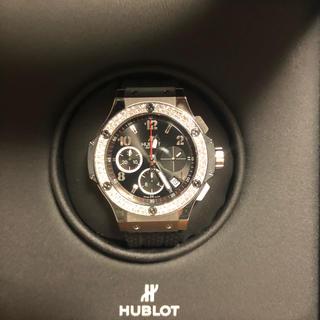 ウブロ(HUBLOT)の今週のみ!HUBLOTビッグバンスティールダイヤモンド!新品同様!(腕時計(アナログ))