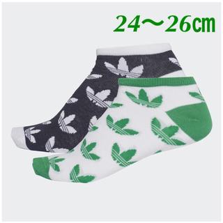 アディダス(adidas)の【24〜26㎝】靴下  2枚組 (ソックス)