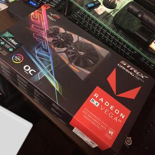 エイスース(ASUS)のASUS ROG VEGA64 8GB 新品未使用(PCパーツ)