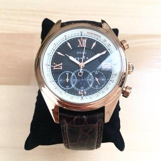アガット(agete)のagete for MEN × STAG コラボ時計 ピンクゴールド(腕時計(アナログ))