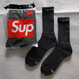 シュプリーム(Supreme)の2足組 Supreme Hanes socks シュプリーム ソックス 黒2(ソックス)