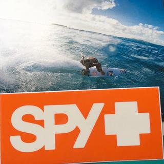 スパイ(SPY)のSPYスパイ オプティカルUS限定オレンジBOXバナー ステッカー(サーフィン)
