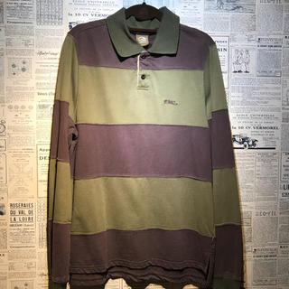 オクトパスアーミー(OCTOPUS ARMY)のOCTOPUS ARMY オクトパスアーミー ラガーシャツ サイズM(ポロシャツ)